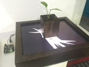 インタラクティブな植物?Arduinoが接続されています