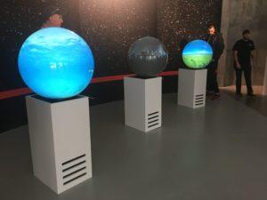 SXSW 球体のディスプレイ